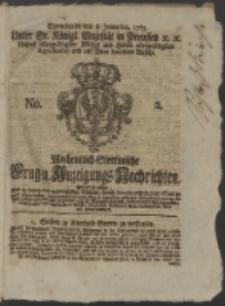 Wochentlich-Stettinische Frag- und Anzeigungs-Nachrichten. 1763 No. 2 + Anhang