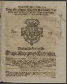 Wochentlich-Stettinische Frag- und Anzeigungs-Nachrichten. 1753 No. 19 + Anhang