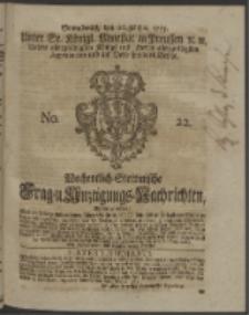 Wochentlich-Stettinische Frag- und Anzeigungs-Nachrichten. 1753 No. 22 + Anhang