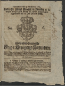 Wochentlich-Stettinische Frag- und Anzeigungs-Nachrichten. 1763 No. 6 + Anhang