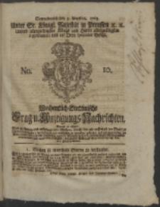 Wochentlich-Stettinische Frag- und Anzeigungs-Nachrichten. 1763 No. 10 + Anhang