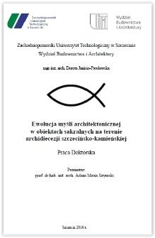 Ewolucja myśli architektonicznej w obiektach sakralnych na terenie archidiecezji szczecińsko-kamieńskiej