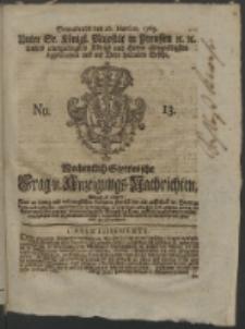 Wochentlich-Stettinische Frag- und Anzeigungs-Nachrichten. 1763 No. 13 + Anhang