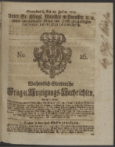 Wochentlich-Stettinische Frag- und Anzeigungs-Nachrichten. 1753 No. 26 + Anhang