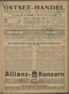 Ostsee-Handel : Wirtschaftszeitschrift für der Wirtschaftsgebiet des Gaues Pommern und der Ostsee und Südostländer. Jg. 5, 1925 Nr. 1