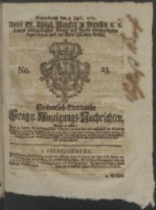 Wochentlich-Stettinische Frag- und Anzeigungs-Nachrichten. 1763 No. 23 + Anhang