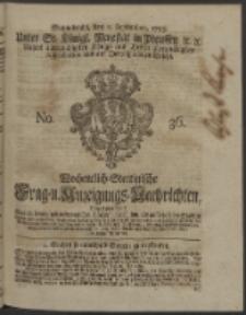 Wochentlich-Stettinische Frag- und Anzeigungs-Nachrichten. 1753 No. 36 + Anhang