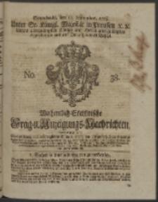 Wochentlich-Stettinische Frag- und Anzeigungs-Nachrichten. 1753No. 38 + Anhang