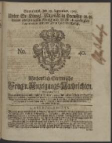 Wochentlich-Stettinische Frag- und Anzeigungs-Nachrichten. 1753 No. 40 + Anhang