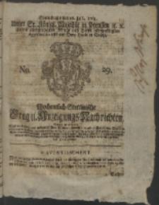 Wochentlich-Stettinische Frag- und Anzeigungs-Nachrichten. 1763 No. 29 + Anhang