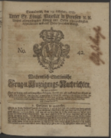 Wochentlich-Stettinische Frag- und Anzeigungs-Nachrichten. 1753 No. 42 + Anhang
