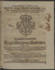 Wochentlich-Stettinische Frag- und Anzeigungs-Nachrichten. 1753 No. 43 + Anhang
