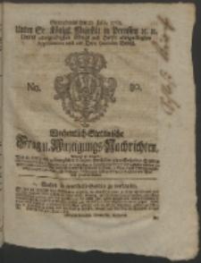 Wochentlich-Stettinische Frag- und Anzeigungs-Nachrichten. 1763 No. 30 + Anhang