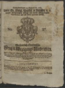 Wochentlich-Stettinische Frag- und Anzeigungs-Nachrichten. 1763 No. 37 + Anhang