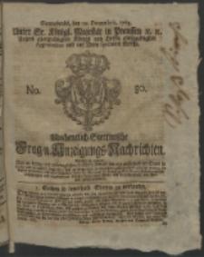 Wochentlich-Stettinische Frag- und Anzeigungs-Nachrichten. 1763 No. 50 + Anhang
