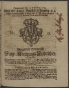 Wochentlich-Stettinische Frag- und Anzeigungs-Nachrichten. 1753 No. 51 + Anhang