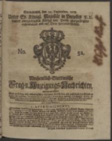 Wochentlich-Stettinische Frag- und Anzeigungs-Nachrichten. 1753 No. 52 + Anhang