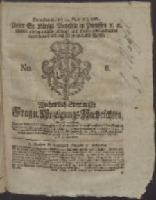 Wochentlich-Stettinische Frag- und Anzeigungs-Nachrichten. 1766 No. 8 + Anhang