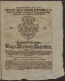 Wochentlich-Stettinische Frag- und Anzeigungs-Nachrichten. 1766 No. 23 + Anhang