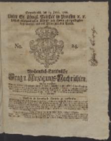 Wochentlich-Stettinische Frag- und Anzeigungs-Nachrichten. 1766 No. 24 + Anhang