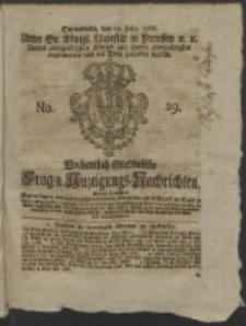 Wochentlich-Stettinische Frag- und Anzeigungs-Nachrichten. 1766 No. 29 + Anhang