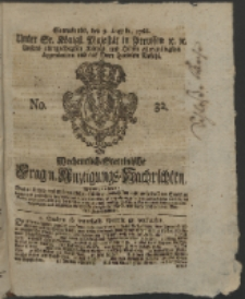 Wochentlich-Stettinische Frag- und Anzeigungs-Nachrichten. 1766 No. 32 + Anhang
