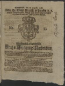 Wochentlich-Stettinische Frag- und Anzeigungs-Nachrichten. 1766 No. 33 + Anhang