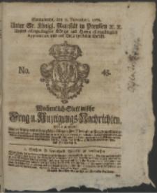 Wochentlich-Stettinische Frag- und Anzeigungs-Nachrichten. 1766 No. 45 + Anhang
