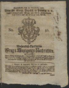 Wochentlich-Stettinische Frag- und Anzeigungs-Nachrichten. 1766 No. 50 + Anhang