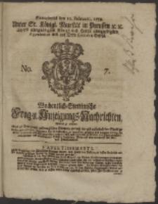 Wochentlich-Stettinische Frag- und Anzeigungs-Nachrichten. 1759 No. 7 + Anhang