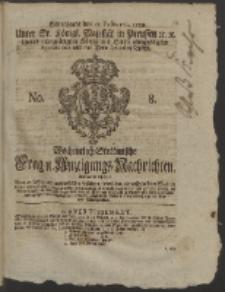 Wochentlich-Stettinische Frag- und Anzeigungs-Nachrichten. 1759 No. 8 + Anhang