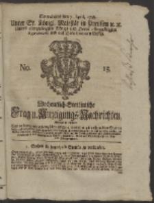 Wochentlich-Stettinische Frag- und Anzeigungs-Nachrichten. 1759 No. 15 + Anhang