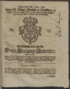 Wochentlich-Stettinische Frag- und Anzeigungs-Nachrichten. 1759 No. 19 +