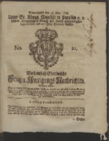 Wochentlich-Stettinische Frag- und Anzeigungs-Nachrichten. 1759 No. 21 + Anhanhg