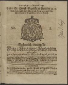 Wochentlich-Stettinische Frag- und Anzeigungs-Nachrichten. 1745 No. 8