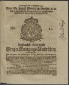 Wochentlich-Stettinische Frag- und Anzeigungs-Nachrichten. 1745 No. 11
