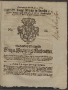 Wochentlich-Stettinische Frag- und Anzeigungs-Nachrichten. 1759 No. 22 + Anhang