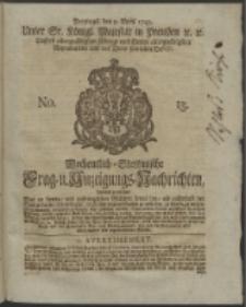 Wochentlich-Stettinische Frag- und Anzeigungs-Nachrichten. 1745 No. 15