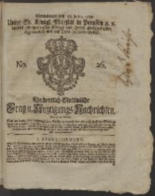 Wochentlich-Stettinische Frag- und Anzeigungs-Nachrichten. 1759 No. 26 + Anhang