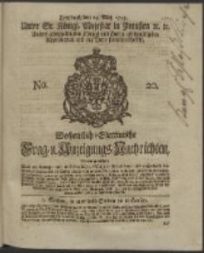 Wochentlich-Stettinische Frag- und Anzeigungs-Nachrichten. 1745 No. 20