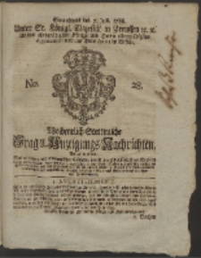 Wochentlich-Stettinische Frag- und Anzeigungs-Nachrichten. 1759 No. 28 + Anhang