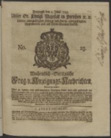 Wochentlich-Stettinische Frag- und Anzeigungs-Nachrichten. 1745 No. 23