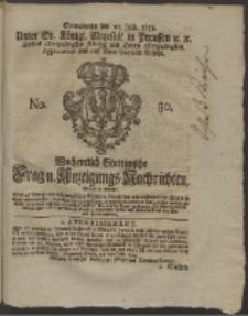 Wochentlich-Stettinische Frag- und Anzeigungs-Nachrichten. 1759 No. 30 + Anhang