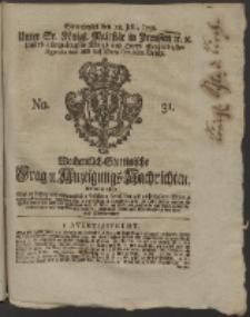 Wochentlich-Stettinische Frag- und Anzeigungs-Nachrichten. 1759 No. 31 + Anhang