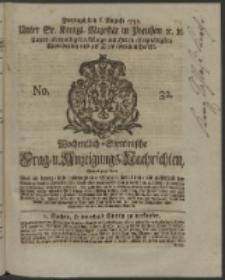 Wochentlich-Stettinische Frag- und Anzeigungs-Nachrichten. 1745 No. 32