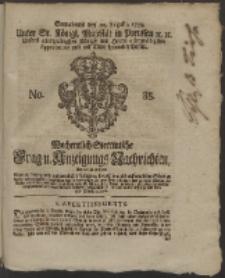 Wochentlich-Stettinische Frag- und Anzeigungs-Nachrichten. 1759 No. 35 + Anhang