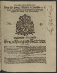 Wochentlich-Stettinische Frag- und Anzeigungs-Nachrichten. 1745 No. 43
