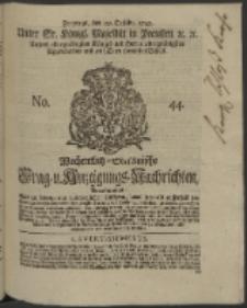 Wochentlich-Stettinische Frag- und Anzeigungs-Nachrichten. 1745 No. 44