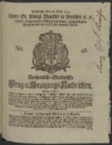 Wochentlich-Stettinische Frag- und Anzeigungs-Nachrichten. 1745 No. 48