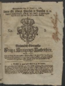 Wochentlich-Stettinische Frag- und Anzeigungs-Nachrichten. 1762 No. 3